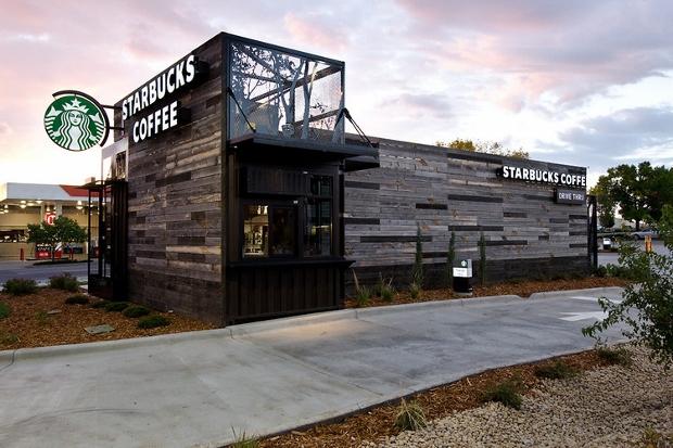 Starbucks new modular drive-thru in Denver, Colorado