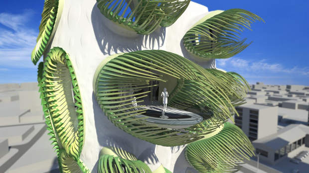 Animated Apertures Housing Tower - B+U Architects