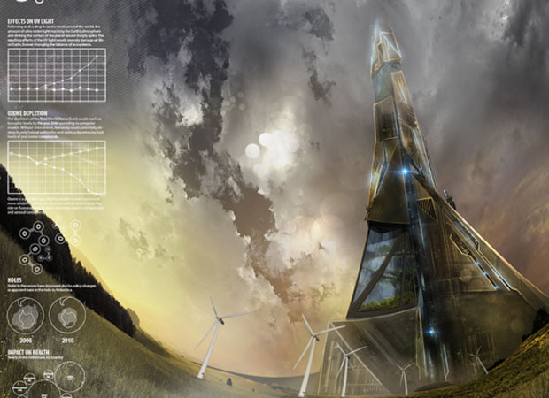 A rendering of Stephenson's Tall Tower Project - image created by Utkarsh Kumar, Violet Whitney and Vineet Bhosle