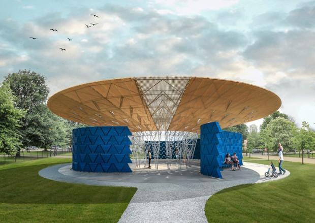 Serpentine Pavilion 2017 designed by Kéré Architecture, Design render © Kéré Architecture