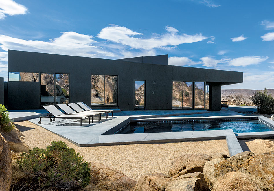 Black Desert, Yucca Valley, California, USA, 2014, Oller & Pejic. From Black: Architecture in Monochrome