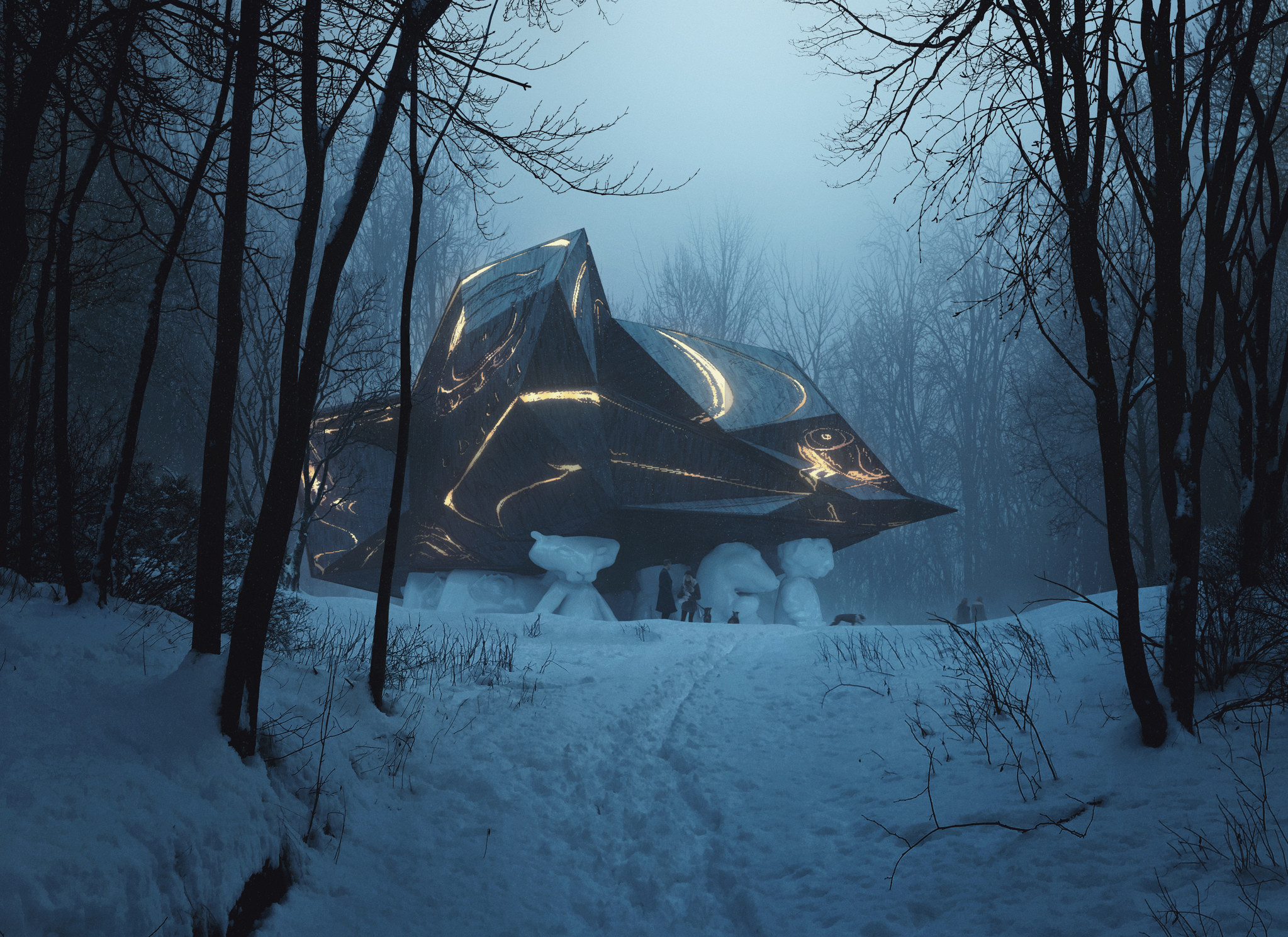 A House to Die In by Snøhetta and Bjarne Melgaard. Image courtesy of MIR and Snøhetta