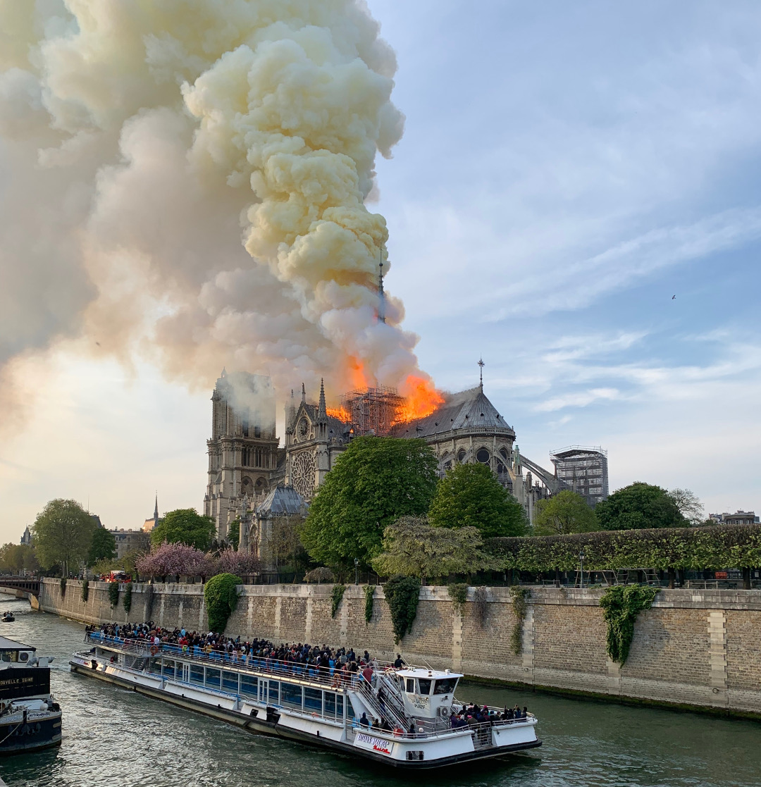 The Notre Dame fire. Photograph by William Hall. Copyright William Hall