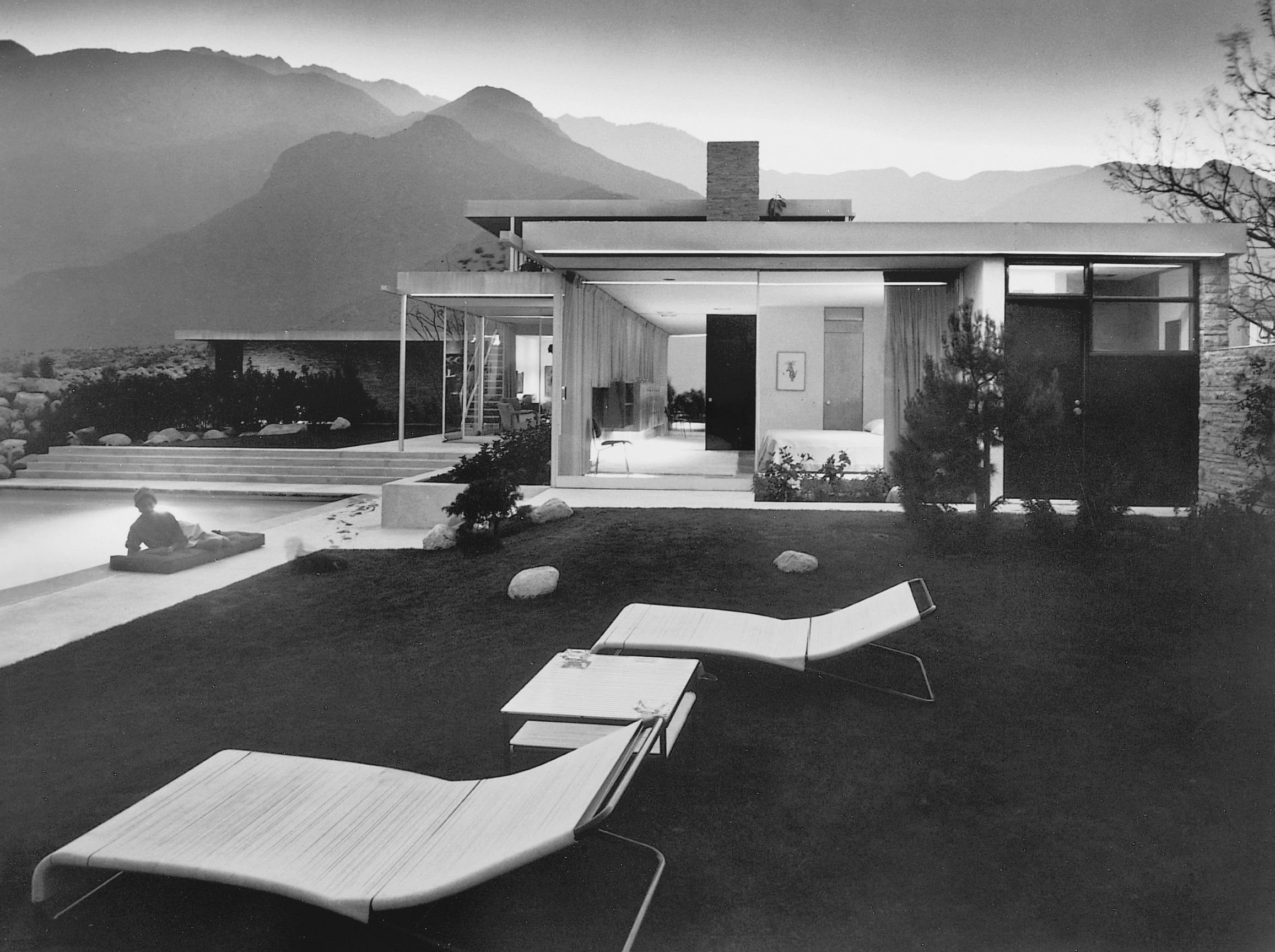 Kaufmann House, Richard Neutra, Palm Springs, California (US), 1947. Photo by Julius Shulman / © J. Paul Getty Trust