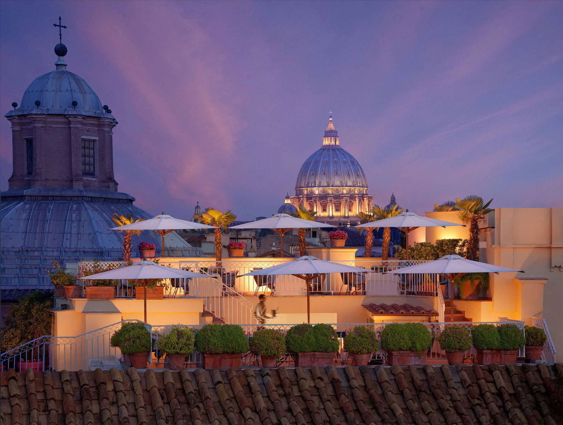 Hotel Raphaël, Rome. All images courtesy of the hotels