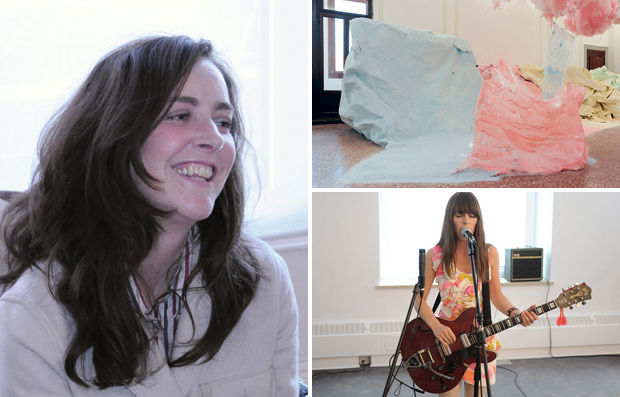 Karla Black (left), her installation at this year's Venice Biennale (top right) and Feist (bottom right) featured on the artist's Muse Music playlist this week