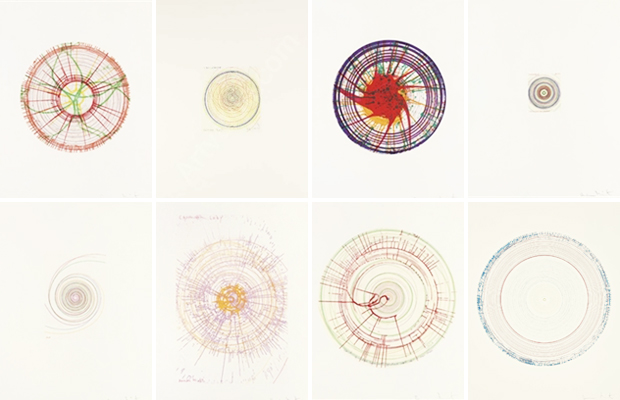 Damien Hirst, In a Spin, The Action of the World on Things (2002)