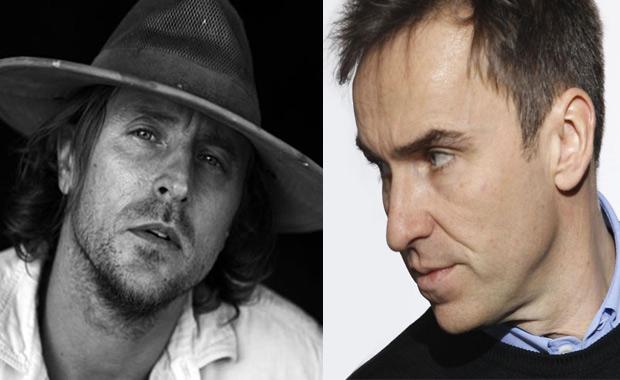 Left: artist Sterling Ruby; right: designer, Raf Simons
