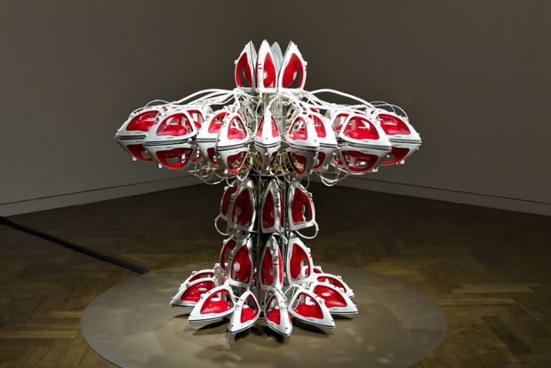 Full Steam Ahead (Red 1) by Joana Vasconcelos at Haunch of Venison London, 2012