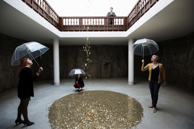 Installation view from Vadim Zakharov's Danaë - photo courtesy Daniel Zakharov