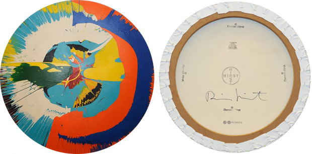 The front and back of Pastor Kevin's spin painting. Images courtesy of the New York County DA's Office