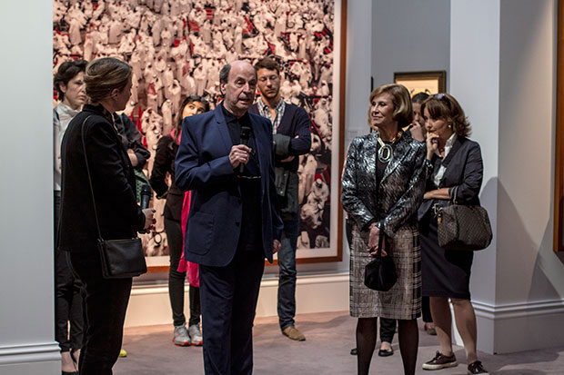 Thea and Ethan addressing young collectors at Sotheby's earlier this year