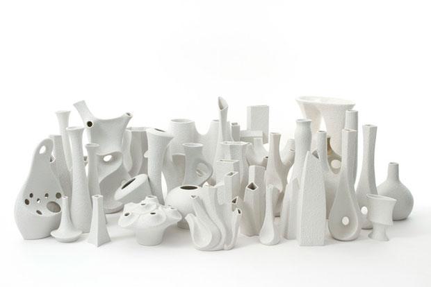 Sgrafo Modern, 33 Vases. Korallen Series (design by Peter Muller) ca.1960-1980. Porcelains.