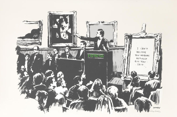 I can't believe you morons actually buy this shit (2013) by Banksy