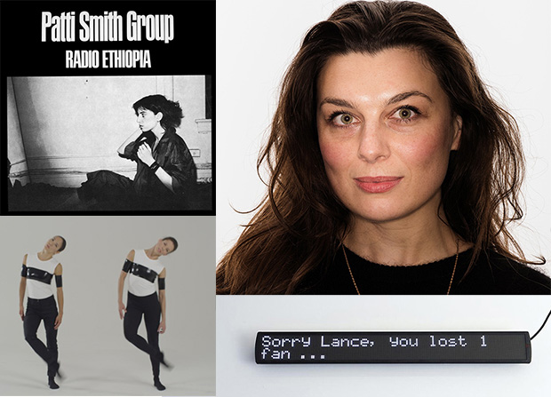 Cally Spooner (top right); Radio Ethiopia by Patti Smith (top left), and stills from Regardless, it's still her voice (2014) and It's About You (2014) by Cally Spooner