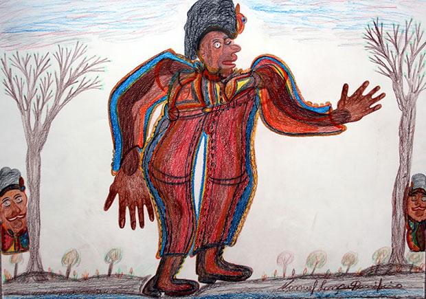 The King (2013) Manuel Bonifacio - image courtesy Henry Boxer Gallery, Richmond