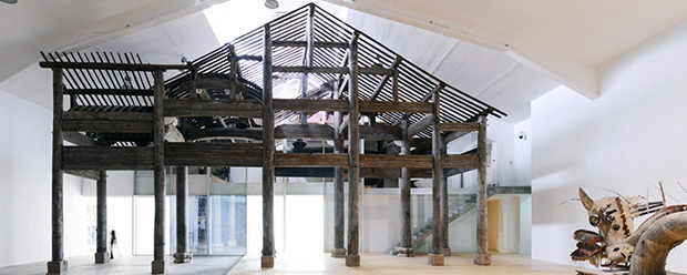 Part of Ai Weiwei's 400-year-old temple, installed at the Tang Contemporary Art Center, Beijing. Image courtesy of the center