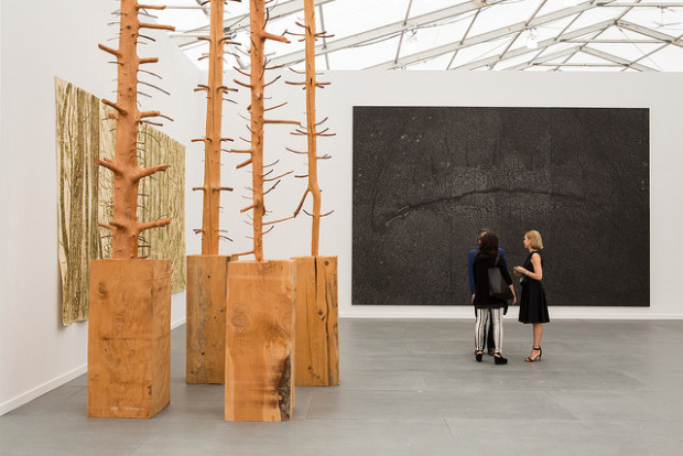 Giuseppe Penone's work in Mariam Goodman's booth. Image courtesy of Frieze
