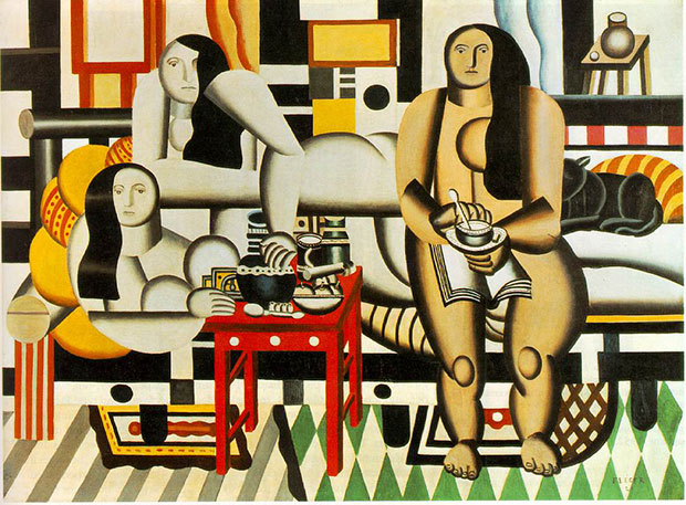 Three Women 1921-2 Fernand Léger - as featured in Body of Art