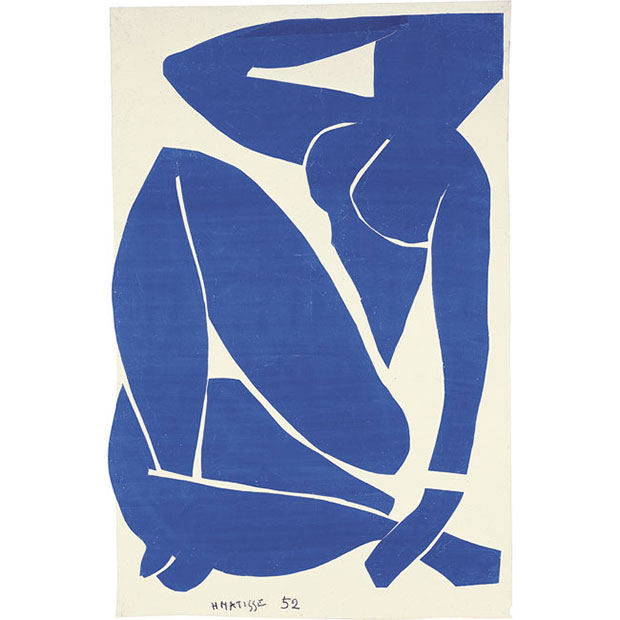 Blue Nude III 1952 - Henri Matisse as featured in Phaidon's Body of Art