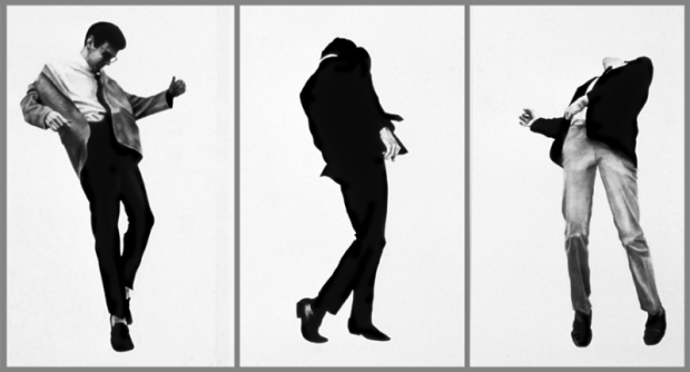 Men in the Cities - Men Trapped in Ice 1980. Charcoal and graphite on paper. 60 x 40 inches/152.4 x 101.6 cm, each panel. Collection Mera and Donald Rebell, New York. Image courtesy of Robertlongo.com