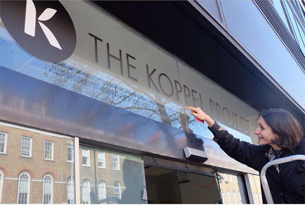 Gabriella Sonabend puts some finishing touches to the Koppel Project