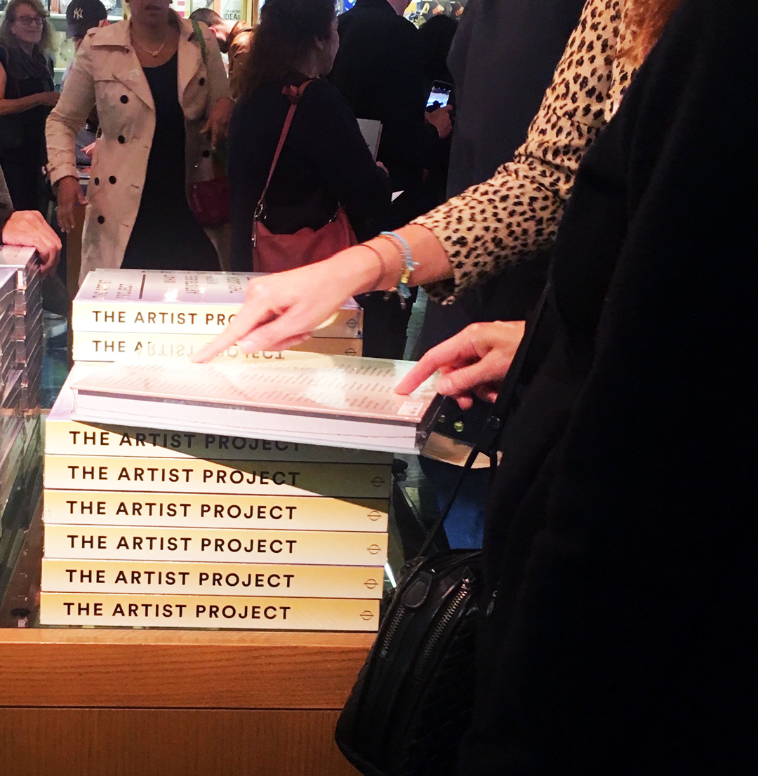 The Artist Project book at our Met Store event