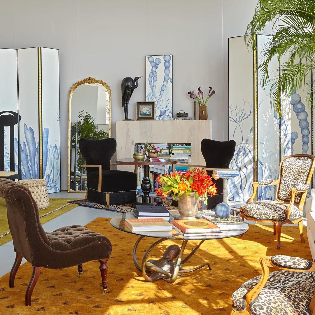 Our VIP lounge with Artspace and Maison de la Luz at Untitled Art, Miami. Image courtesy of Maison de la Luz's Instagram