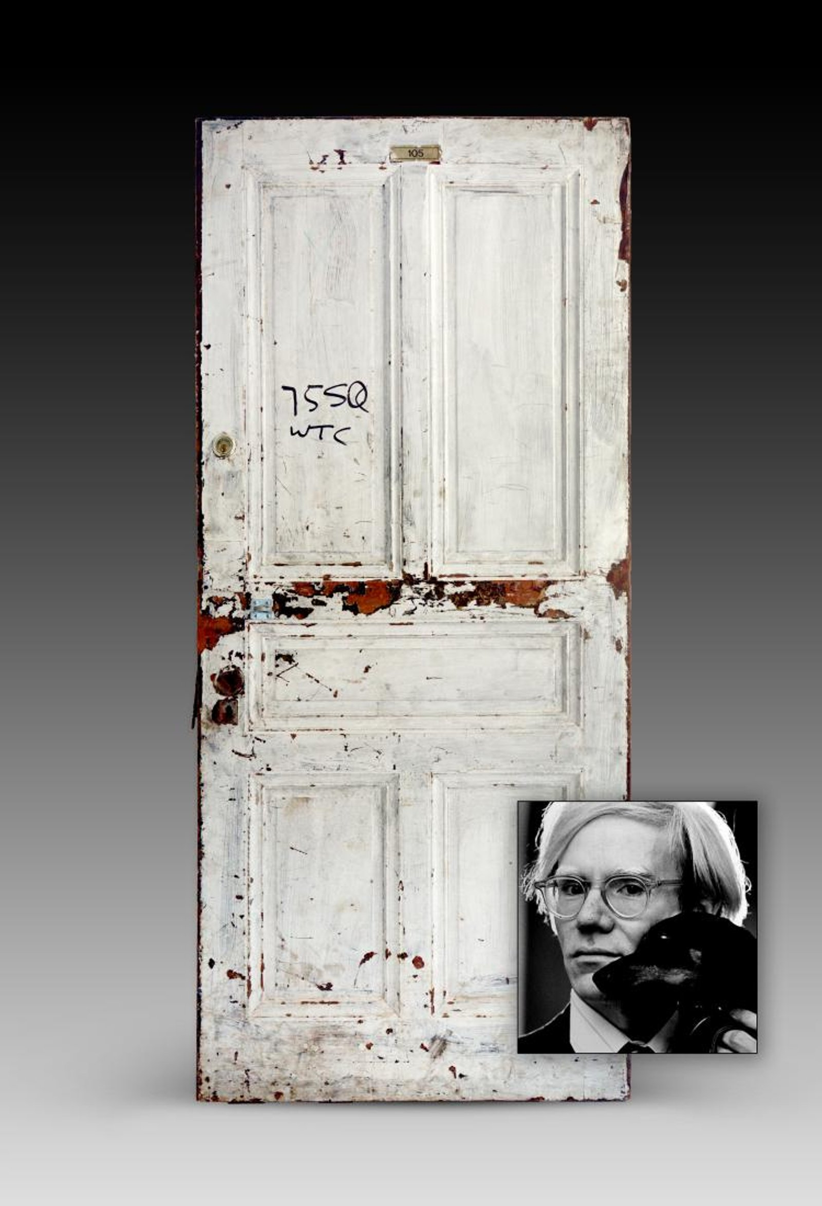 Andy Warhol's Chelsea Hotel door. Image courtesy of Guernsey's