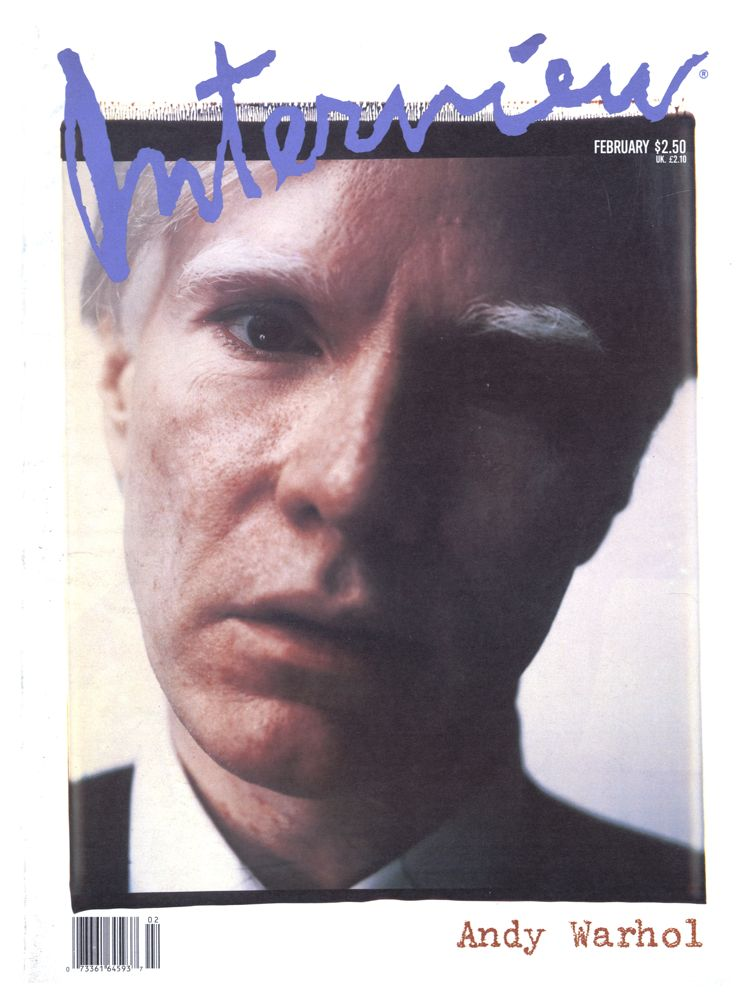 Andy Warhol on the cover of Interview