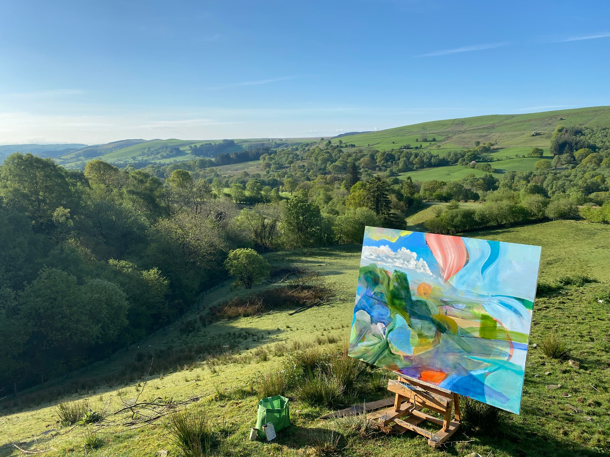 David Dawson's latest paintings in the Welsh Hills