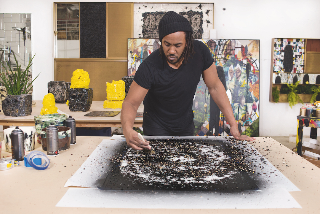 Rashid Johnson: Love in Outer Space (Step by Step). Artwork (c) the artist / Photography (c) Casey Kelbaugh