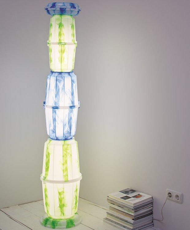 Ross Lovegrove's Fatto di Giorno floor lamp. As featured in Do It Yourself