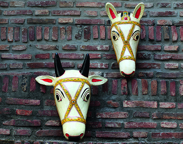 Paper Mâché Masks - from Sar: The Essence of Indian Design