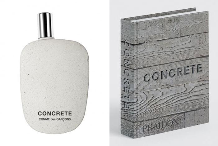 Our new mini-format book, Concrete, and Concrete by Commes des Garçons