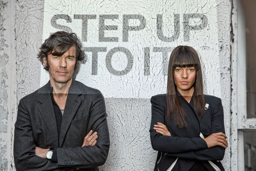 Stefan Sagmeister and Jessica Walsh. Photograph by John Madere