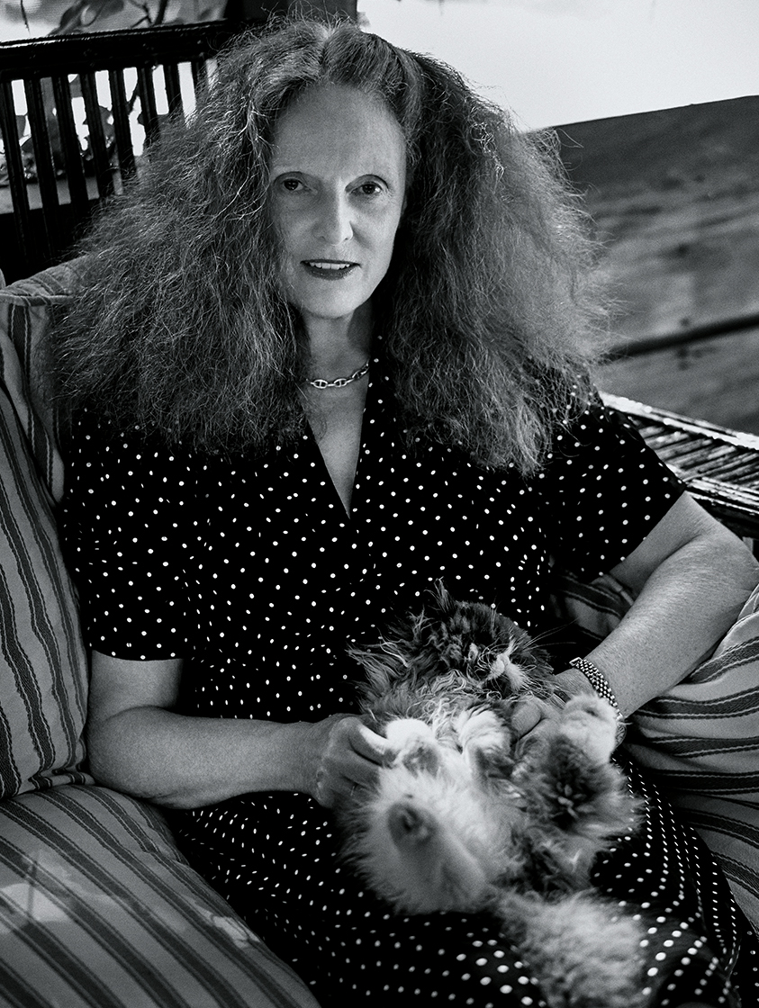 Grace Coddington and tricky first guest - photographed by Fabien Baron