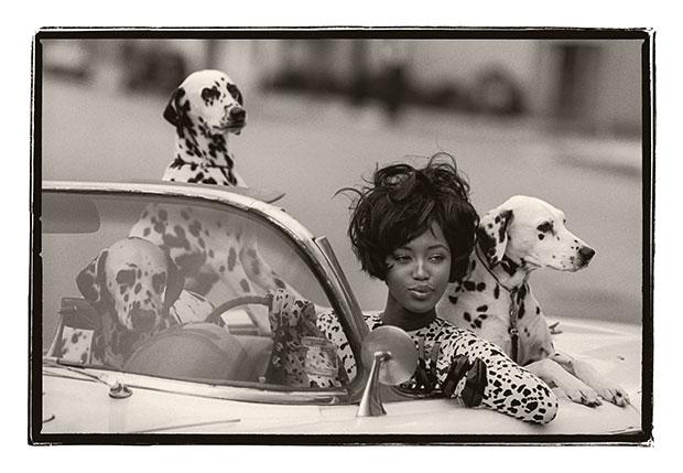 Peter Lindbergh: Naomi Campbell; hair, Julien D'Ys' makeup, Stéphane Marais; USA, 1990