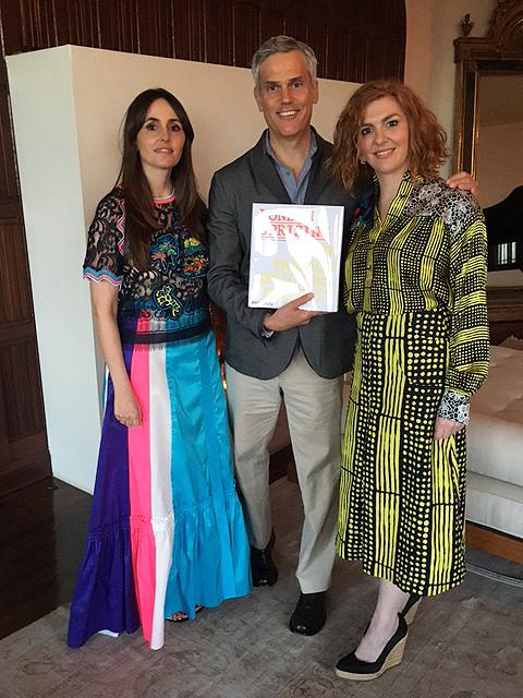 From left: London Uprising co-author Tania Fares, Phaidon CEO Keith Fox and Hala Achkar