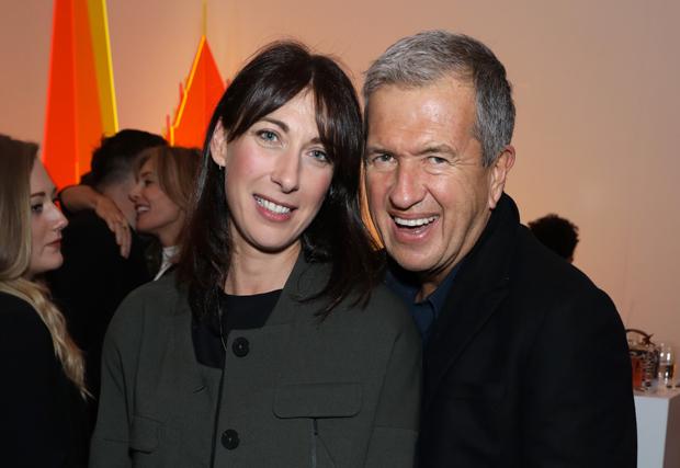 Samantha Cameron and Mario Testino at Sotheby's last night