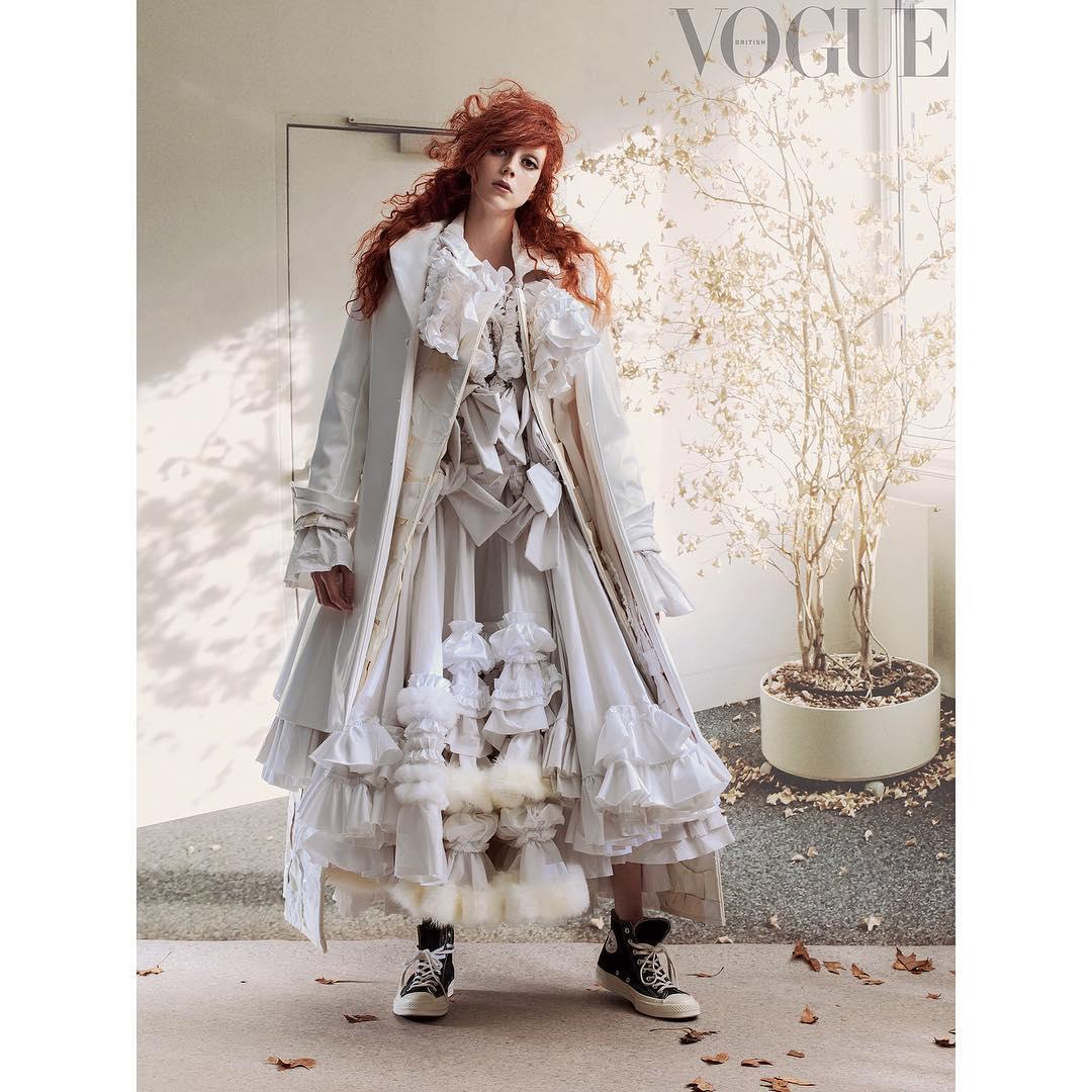 Grace Coddington's new shoot for British Vogue. Photography by Craig McDean. Model Natalie Westing wears Comme des Garçons. All images courtesy of Vogue
