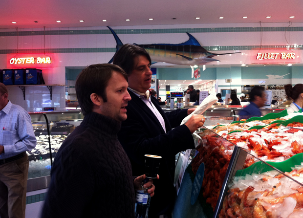 René Redzepi joins Masterchef presenter Matt Preston at the fish market in central Sydney (2010)