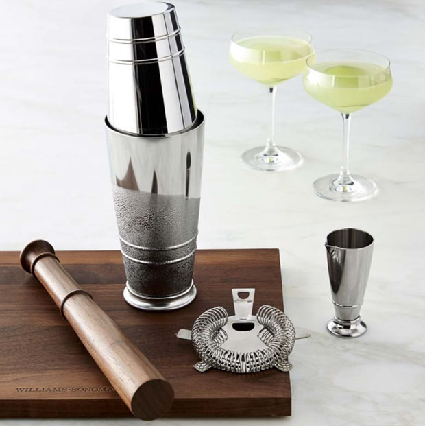 Crafthouse by Fortessa Cocktail Shaker Set - the perfect complement to our book Regarding Cocktails, and available from Sonoma Williams