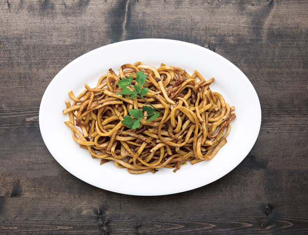Stir-fried Shanghai noodles, as featured in China: The Cookbook