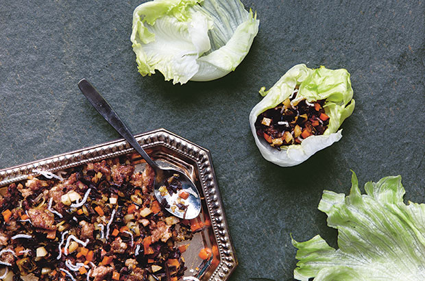 Lettuce Wrap with Dried Oysters from China The Cookbook