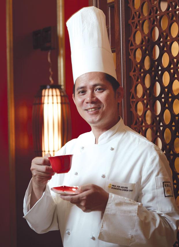 Chek Mok Kit Keung of Shang Palace at the Shangri-La Kowloon Hotel in Hong Kong