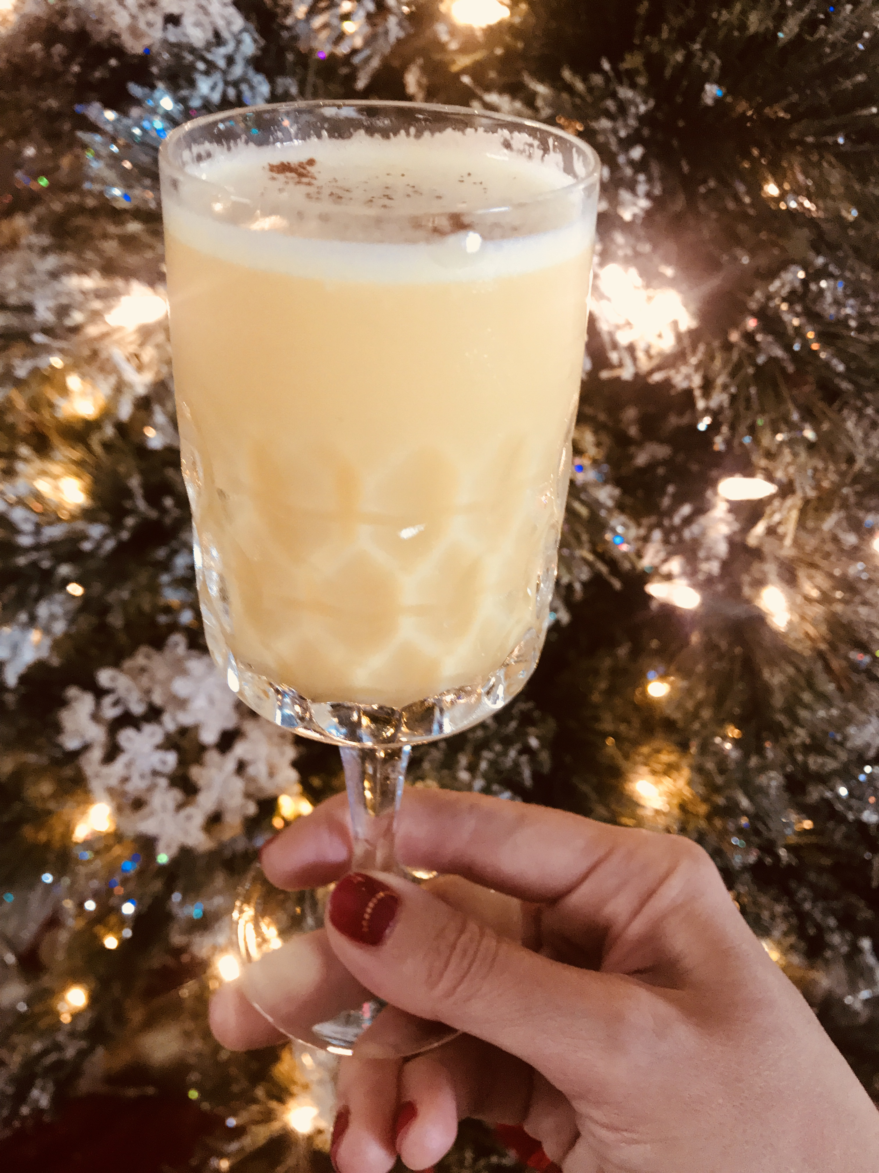 Georgette Moger photographed her New Year Noche Buena cocktail