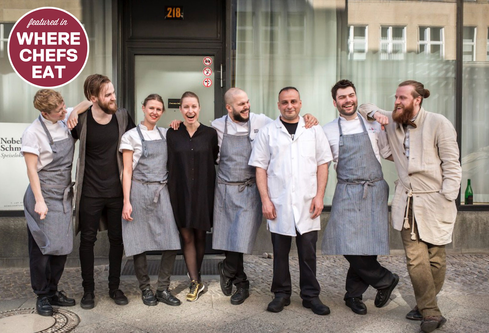 Th team behind (or rather in front of) Nobelhart & Schmutzig - photo by Caroline Prange courtesy Nobelhart & Schmutzig
