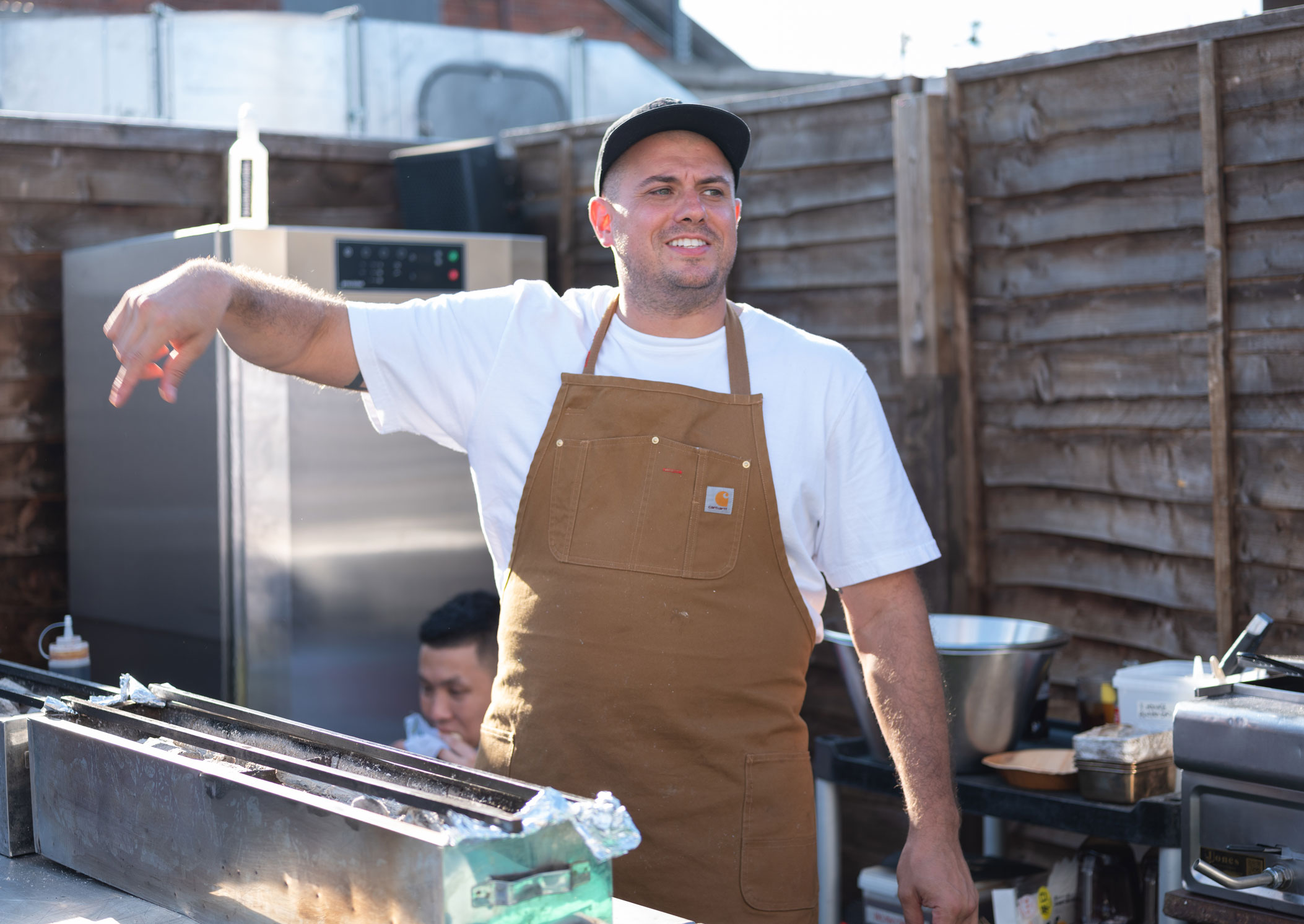 Matt Abergel cooking at Shoreditch House during his trip to London last week