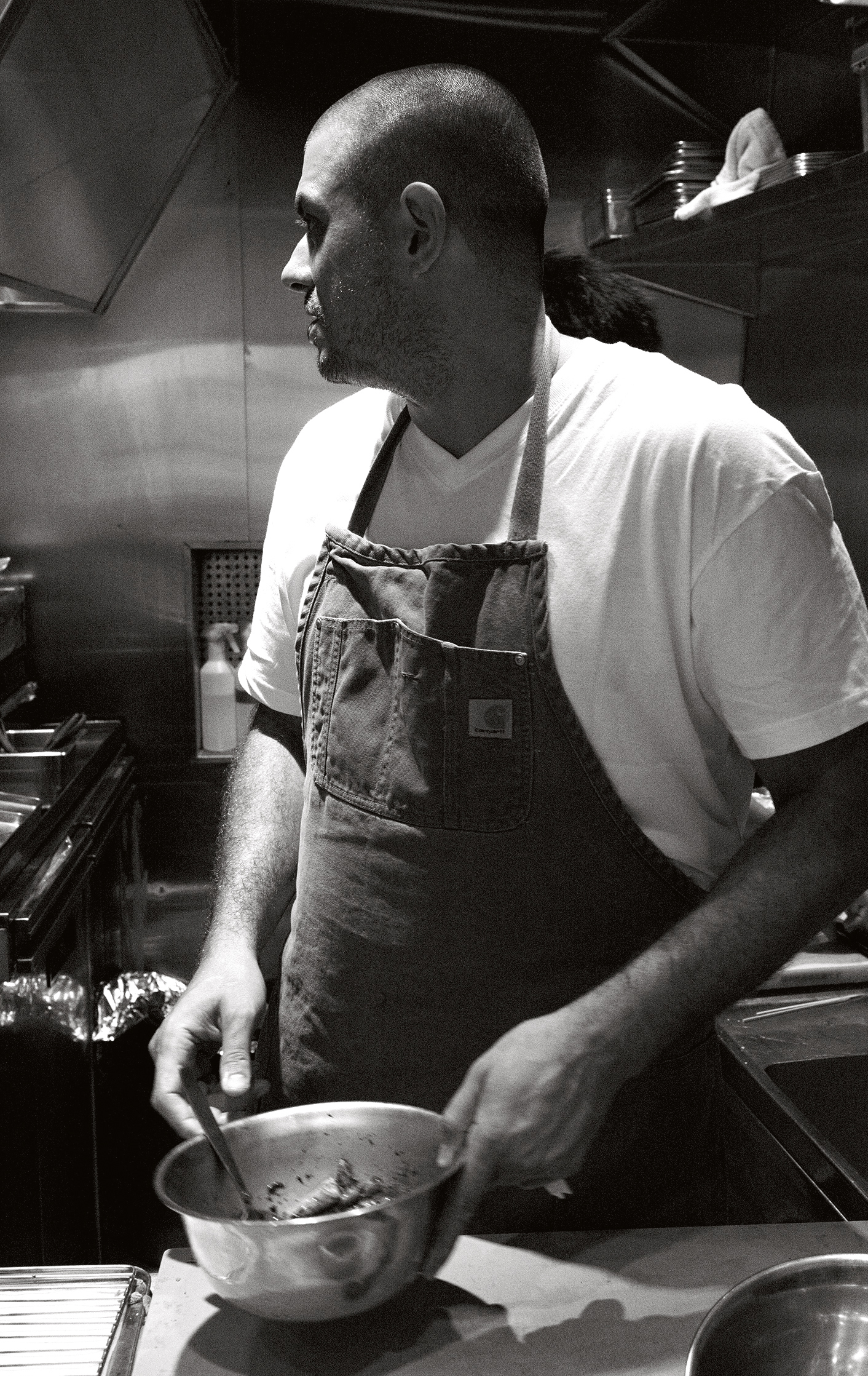Chicken and Charcoal author and chef Matt Abergel - photograph by Jason Lang and Siu Yan Fung